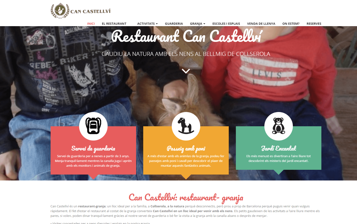 Web del restaurant Can Castellví