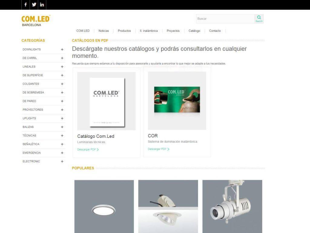 web en Prestashop para COMled