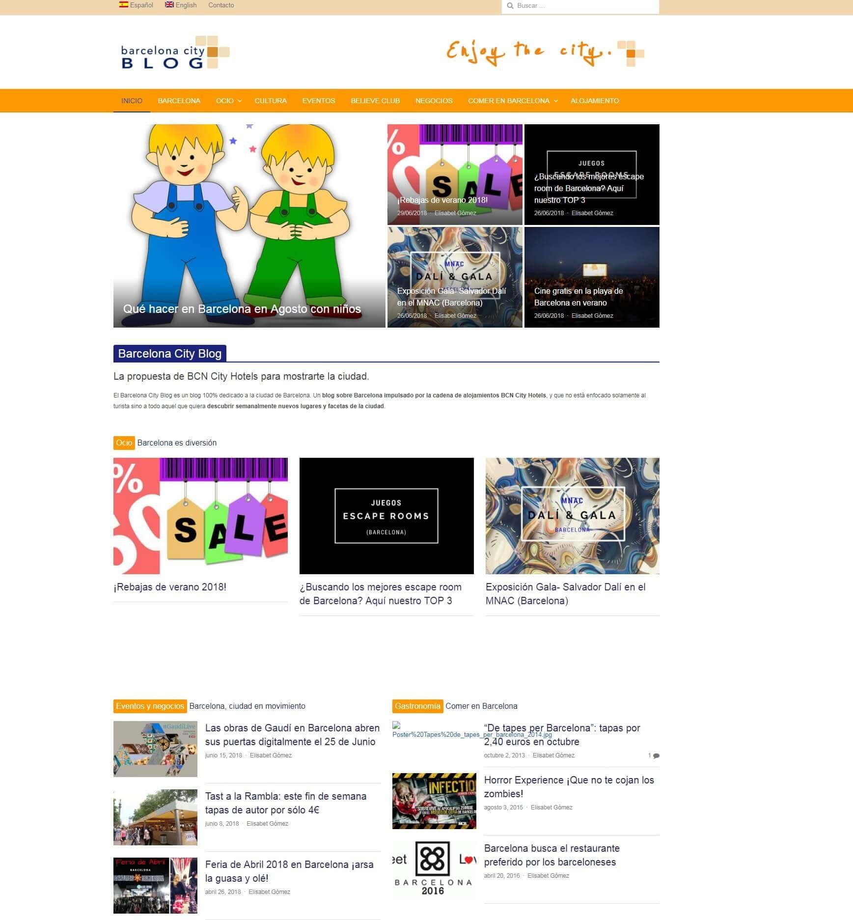 diseño web para blog turístico